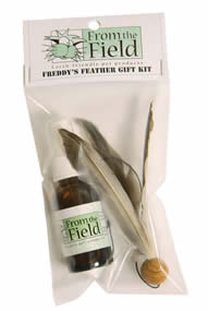 feather wand toy and catnip spray